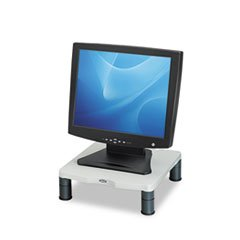 (6 Pack Value Bundle) FEL91712 Height-Adjust Standard Monitor Riser, 13 1/8 x 13 1/2d x2-4, - Monitor Standard Platinum