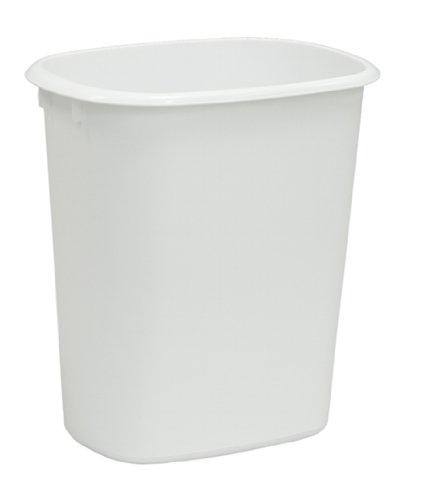 United Solutions WB0013 White Ten Quart Rectangular Wastebas