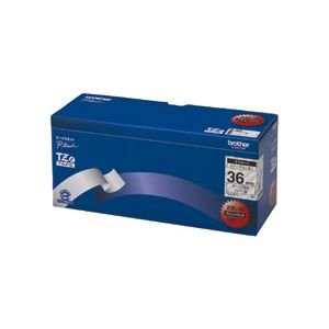 ブラザー BROTHER ピータッチ TZeテープ ラミネートテープ 36mm 透明/黒文字 業務用パック TZE-161V 1パック(5個) ds-970828 B01JAPI2NM
