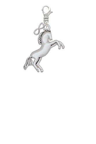 Large Rearing Horse Mini Infinity Clip On -