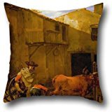 [20 X 20 Inches / 50 By 50 Cm Oil Painting Du Jardin, Karel - A Smith Shoeing An Ox Pillowcover,twice Sides Is Fit For Outdoor,home] (Project M 35 New Costumes)