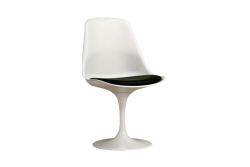 Baxton Sutdios Frediana White chair with black PVC cushion Review