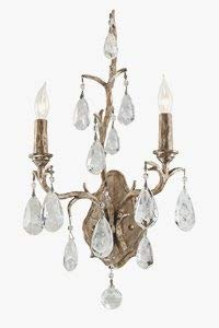 - Amadeus 2-Light Wall Sconce - Vienna Bronze Finish with Italian Drops