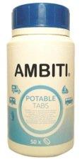 AMBITI Pastillas Potabilizadoras de Agua, bote 50 unidades