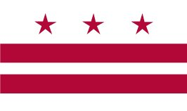 District of Columbia Washington DC Indoor Outdoor Dyed 2-Ply Polyester Flag Grommets 5' X 8'