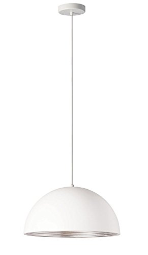 "Dainolite 1 Light Pendant Matte White Silver 16"""" L x 16"""" W x 8"""" H, new"