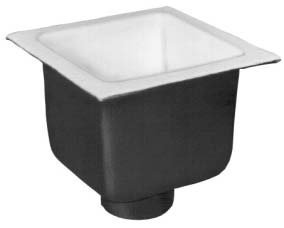 Zurn FD2376-NH3 A.R.C. Floor Sink, 8'' Sump Depth, 3'' No-Hub Connection, 12'' x 12'' by Zurn
