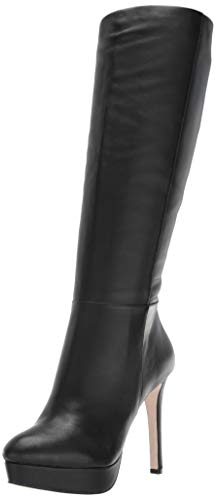 Jessica Simpson Women's Rollin, Black, 9.5 Medium US (Leather Jessica Platforms)