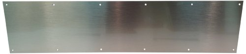 Don-Jo 90 Metal Kick Plate, Satin Stainless Steel Finish, 46'' Width x 10'' Height, 3/64'' Thick by Don-Jo