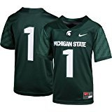 (Nike Michigan State Spartans #1 Football Jersey Youth Medium)