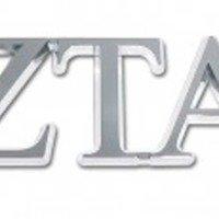 Elektroplate Zeta Tau Alpha Chrome Auto Emblem by Elektroplate