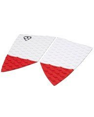 Gorilla Fish Fangs Surfboard Traction Pad - Red/White Assorted by Gorilla