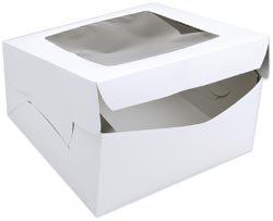 Wilton Bulk Buy Window Cake Box For 10 inch Round Cakes 12 inch x 12 inch x 6 inch W415946 (12-Pack) by Wilton