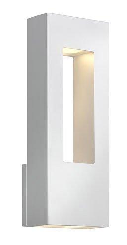Hinkley 1648SW, Atlantis Cast Aluminum Outdoor Wall Sconce Lighting, 40 Watts Halogen, Satin White