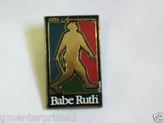 BABE RUTH MLB 100TH ANNIVERSARY LAPEL HAT PIN YANKEES