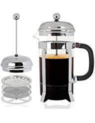 Mr Kitchen All-in-1 French Press Coffee Maker, Coffee Press & Tea Maker w/32 Oz 4 Cup Carafe-Perfect Cup of Coffee Every Time-QUALITY Stainless Steel Coffee Maker Structure