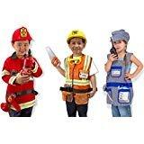 Melissa & Doug Role Play Bundle (Fire Chief, Construction Worker, Train Engineer)