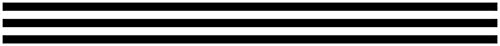 (Schoolgirl Style Industrial Chic Straight Borders, Black & White Stripes (108341))
