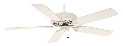 Casablanca Fan Company 84U9D Four Seasons III 52-Inch Ceiling Fan, Classic White Finish with Reversible Classic White/Bleached Oak ()
