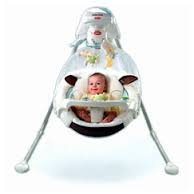 Fisher-Price My Little Lamb Cradle 'n Swing 4 D battery powered by Fisher-Price
