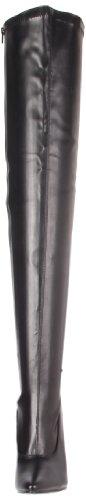 Pleaser DOMINA-3000 - Botas para mujer (por encima de la rodilla), color negro, talla 37
