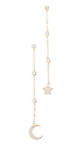 - Shashi Women's Luna Drop Earrings, Yellow Gold, One Size