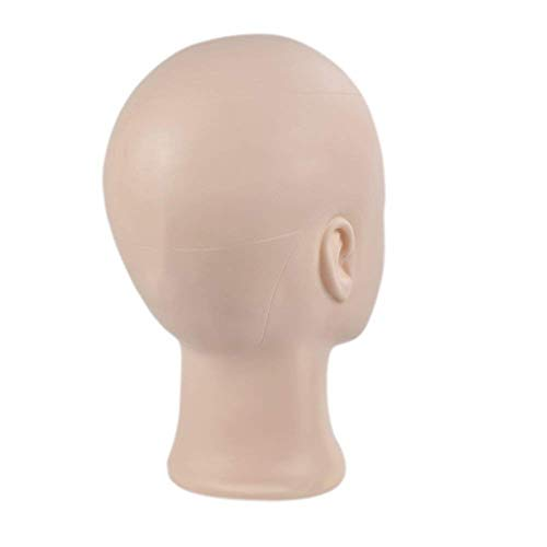 Professional Cosmetology Bald Mannequin Head Manikin Model Doll Head for Make Up, Making Wigs, Wigs,Glasses,Hair with Free Clamp by Ba Sha (Image #2)