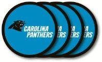 Carolina Panthers Vinyl Coaster Set (4) Brand New in Package by Duckhouse NFL