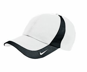 (Nike 354062 Unisex Dri-FIT Technical Colorblock Hat White/Black One Size)
