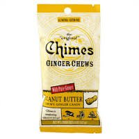 Chimes Ginger Chews 1.5 Oz. - Pack of 3 (Peanut Butter)