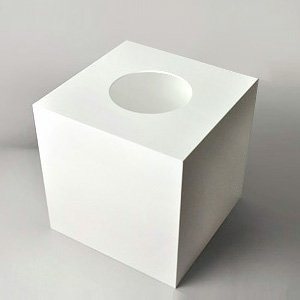 【 抽選箱 大 】 アクリル抽選箱ホワイト(不透明) L /W30cm/D30cm/H30.6cm