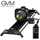 GVM Motorized Camera Slider Aluminum Alloy Slider Time Lapse Video Shot Camera Dolly Slider with Controller for DSLR Camera DV Video Camcorder Film Photography, Load up to 44 lbs
