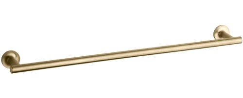 KOHLER K-14436-BGD Purist 24-Inch  Single Towel Bar, Vibrant Moderne Brushed Gold
