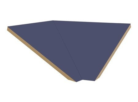 Corner Sloping Hood Filler for Locker in Blue by Salsbury Industries
