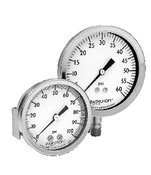Ashcroft Duralife Type 1009 Stainless Steel Case Dry Filled Pressure Gauge, Stainless Steel Tube and Socket, 3.5