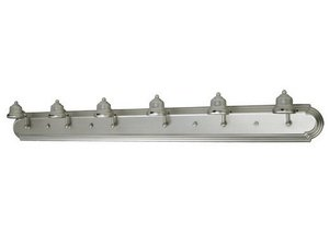 Craftmade Arch - Craftmade Lighting 11748BN6 Racetrack - Six Light Arch Arm Bath Vanity, Brushed Nickel Finish