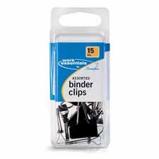 Construction Recycled Binder - Swingline Products - Binder Clips, Scratch-Resistant, 15PK, Assorted Sizes - Sold as 1 PK - Binder clips offer durable construction to keep large documents firmly together with extra-strong holding power. Corrosion-resistant and scratch-resistant.