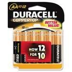 Duracell Duralock Copper Top Alkaline Aa Batteries - 12 Pack