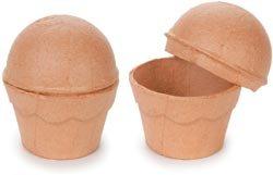 Bulk Buy: Corein.dinations Paper Mache Cupcake Box 3in. x 3.