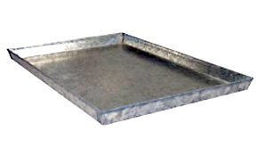 - Everila Dog Crate Cage Kennel Replacement Galvanized Steel Metal Pan Tray Floor Size: 35.5