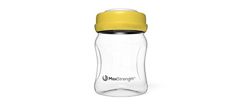(Breastmilk Bottles 6pc Set with Leak Proof Lids by Max Strength Pro, 6.oz 180ml Reusable Wide Neck Bottles Best for Breast Milk Collection & Storage Solution, BPA Free, Fits Spectra & Avent Models)