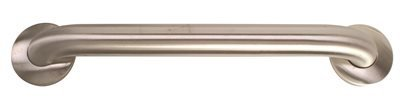 16' Safety Grab Bar - Bradley 8120-048160 Stainless Steel Grab Bar 45 Deg Mount 16'', 1
