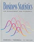 Business Statistics, Daniel, Wayne W. and Terrell, James C., 0395472709