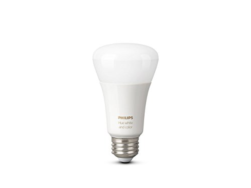 Philips 464503 Hue White and Color A19 LED Bulb, 3rd Generation with Richer Colors for IOS and (Philips Led Lighting)