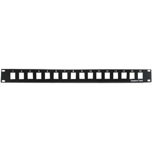 InstallerParts 1U 19'' 16Port Blank Panel for Keystone Jack by InstallerParts