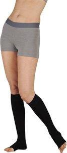 Juzo 18676 30-40 mmHg, Dynamic, Knee, OT, Short, Silicone, 5cm, Black - Size III (Color: black, Tamaño: III Short)