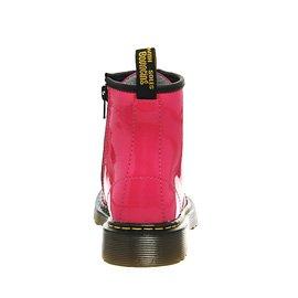 Dr, Martens en el interior de encaje con cremallera tuyo Delaney para rosa - rosa (Hot Pink Patent)