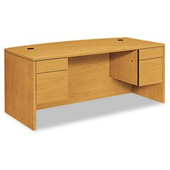 HON 10595CC 10500 Series Bow Front Desk, 3/4 Height Dbl Pedestals, 72 x 36 x 29-1/2, - 3/4 Height Pedestal Desk