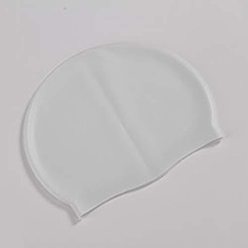 Blanco Hnourishy Gorro de nataci/ón Impermeable de Silicona Suave Protege Las Orejas Cabello Largo Deportes Gorro de nataci/ón en Piscina para Hombres y Mujeres Adultos