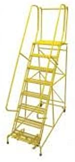 product image for Cotterman 1008R2632A3E20B4C2P6 - Rolling Ladder Steel 110In. H. Yellow